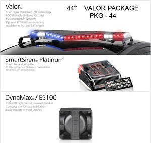 FedSig Valor 51in LED Lightbar w/Smart Siren SSP3000 + Speaker
